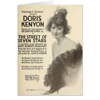 Doris Kenyon 1918 silent film exhibitor ad Greeting Card