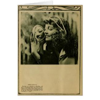 Doris Kenyon 1918 silent movie actress portrait Greeting Card