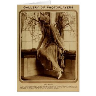 Doris Kenyon 1918 vintage portrait silent films Greeting Card