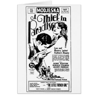 Doris Kenyon 1925 movie ad card Ronald Colman