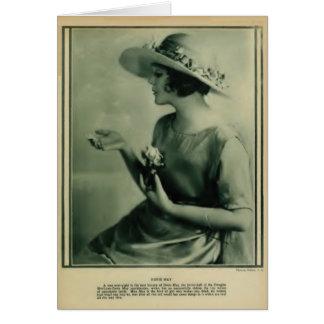 Doris May 1920 vintage portrait Greeting Card