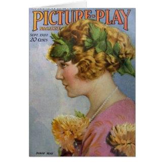 Doris May Vintage 1920 Movie Magazine Card