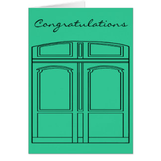 Doris the door/Congratulations Card