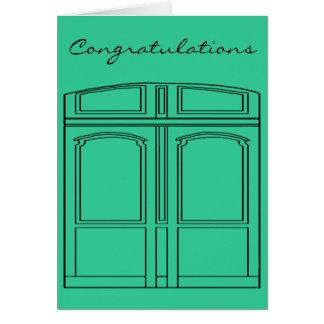 Doris the door/Congratulations Greeting Card
