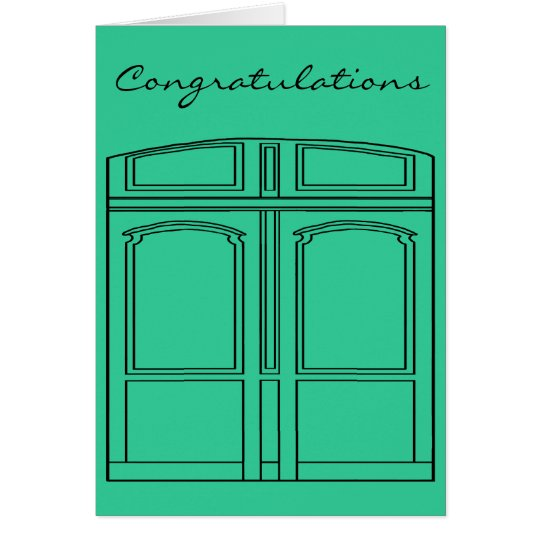 Doris the door/Congratulations Card