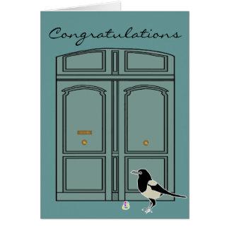 Doris the door + Maggie the Magpie Note Card