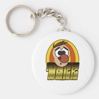 dork basic round button key ring