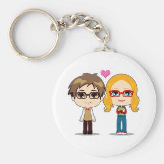 Dork Love Basic Round Button Key Ring