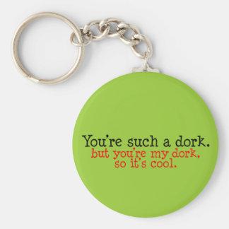 Dork Lover Basic Round Button Key Ring