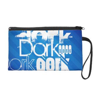Dork; Royal Blue Stripes Wristlet Clutches