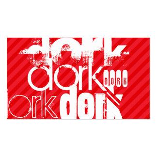 Dork; Scarlet Red Stripes Pack Of Standard Business Cards