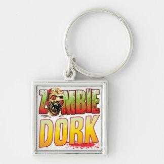 Dork Zombie Head Key Chain
