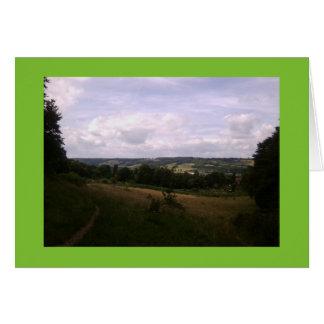 Dorking Gardens / Hills Photo Card