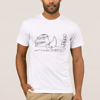 dorky rex-dactile rattle worm shirt