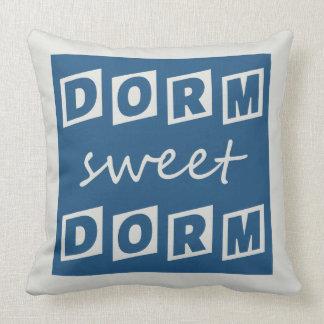 """Dorm Sweet Dorm"" reversible throw pillow"