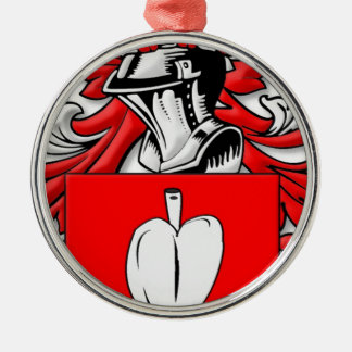 Dormann Coat of Arms Silver-Colored Round Decoration