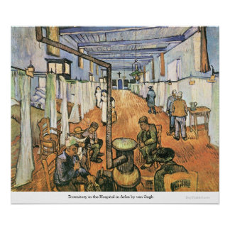 Dormitory in the Hospital in Arles by van Gogh Poster