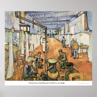 Dormitory in the Hospital in Arles by van Gogh Print