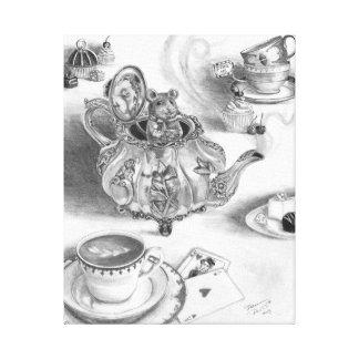 Dormouse Art Canvas Alice in Wonderland Art