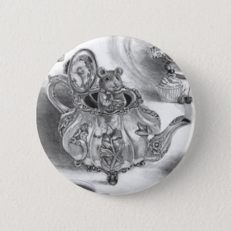 Dormouse Button Alice in Wonderland Button