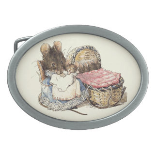 Dormouse Mother and Child Belt Buckle