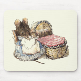 Dormouse Mother and Child Mouse Mat