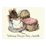 Dormouse Mother and Child Postcard
