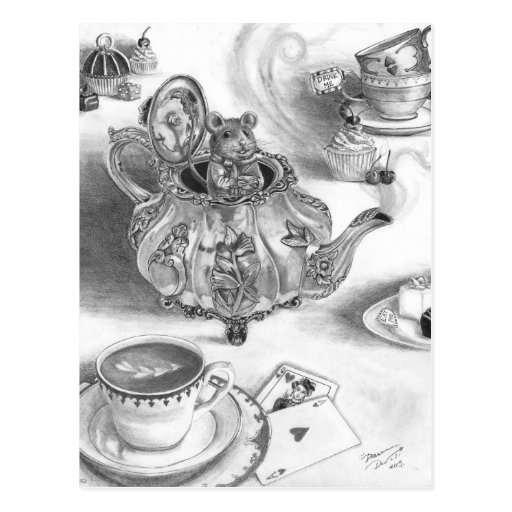 Dormouse Postcard Alice in Wonderland Postcard