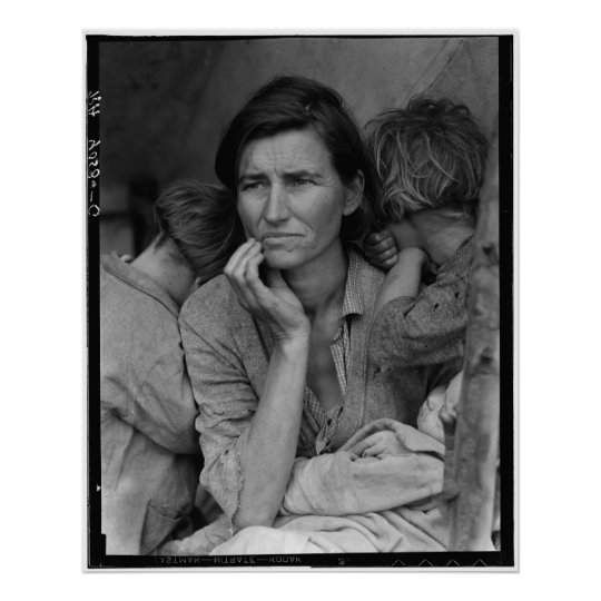 Dorothea Lange's Migrant Mother Florence Thompson Poster
