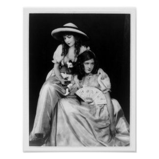 Dorothy and Lillian Gish Poster