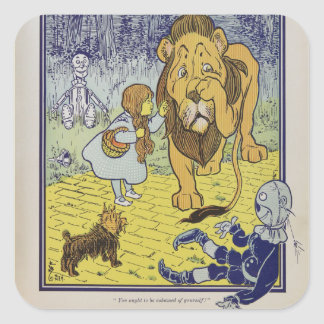 Dorothy and the Cowardly Lion from Wizard of Oz Square Sticker