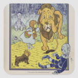 Dorothy and the Cowardly Lion from Wizard of Oz Square Stickers