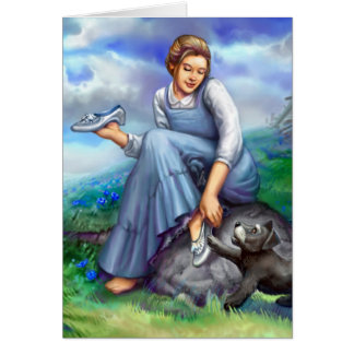 Dorothy and the Silver Shoes Card