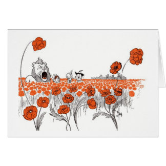 Dorothy in the Poppy Field Card