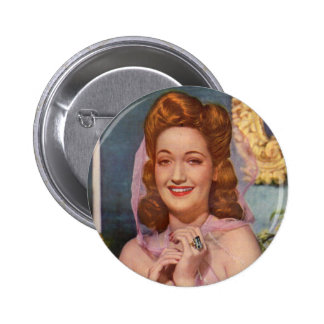 Dorothy Lamour 1940s star of the 'Road' pictures 6 Cm Round Badge