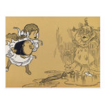 Dorothy melting Wicked Witch West, Wizard of Oz Post Card