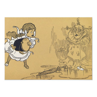 Dorothy melting Wicked Witch Wizard of Oz 13 Cm X 18 Cm Invitation Card