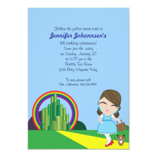 Dorothy of Oz BIRTHDAY PARTY custom invitation