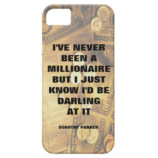 Dorothy Parker millionaire quote money background iPhone 5 Cover
