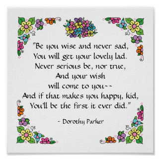 Dorothy Parker Quotation Poster by SRF