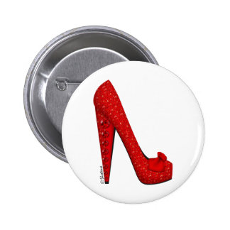 Dorothy Ruby Pump Pinback Buttons