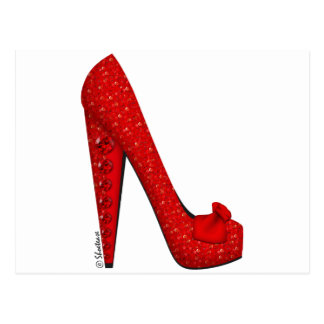 Dorothy Ruby Pump Post Cards