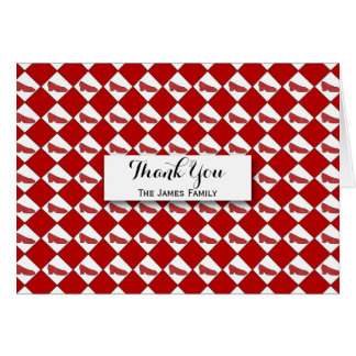 Dorothy Ruby Slippers Pattern Personalized Card