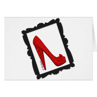 Dorothy s Framed Ruby Red Heels Card