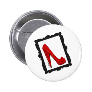 Dorothy s Framed Ruby Red Heels Pinback Button
