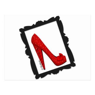 Dorothy s Framed Ruby Red Heels Postcard