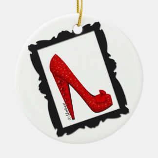Dorothy's Framed Ruby Red Heel Ornament