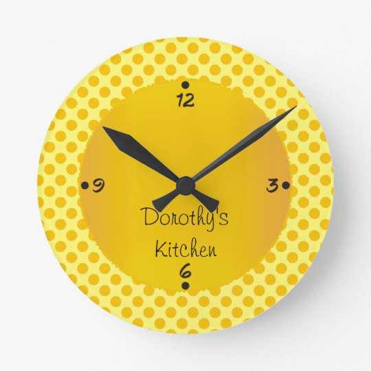 Dorothy's Kitchen Personalised Numbers Wall Clocks