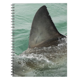 Dorsal aileron of a Great White shark Notebook