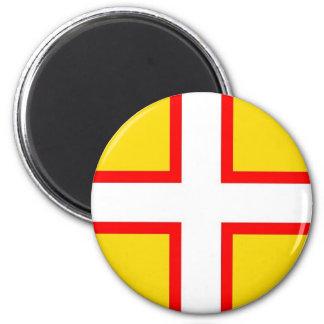 Dorset Flag 6 Cm Round Magnet